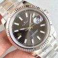 Nueva marca de lujo de los hombres Datejust mecánico automático Acero inoxidable zafiro negro azul gris blanco diamante 36mm deporte reloj AAA +