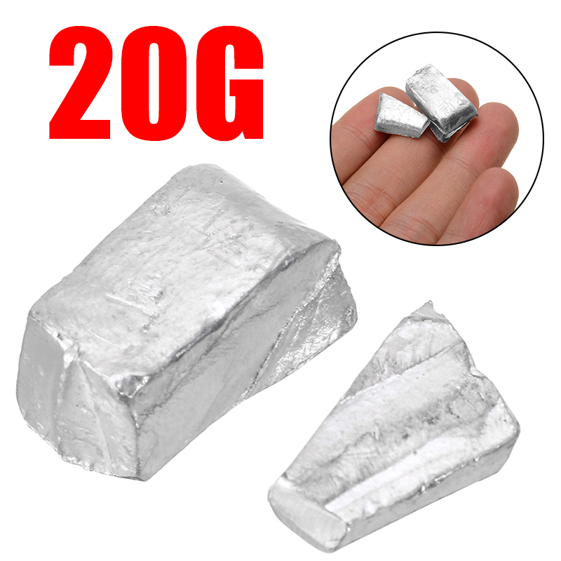 New 20g/0.7 Oz 99.995% High Purity Pure Indium In Metal Bar Blocks Ingots Sample With 150 Degree Melting Point For Industry Tool