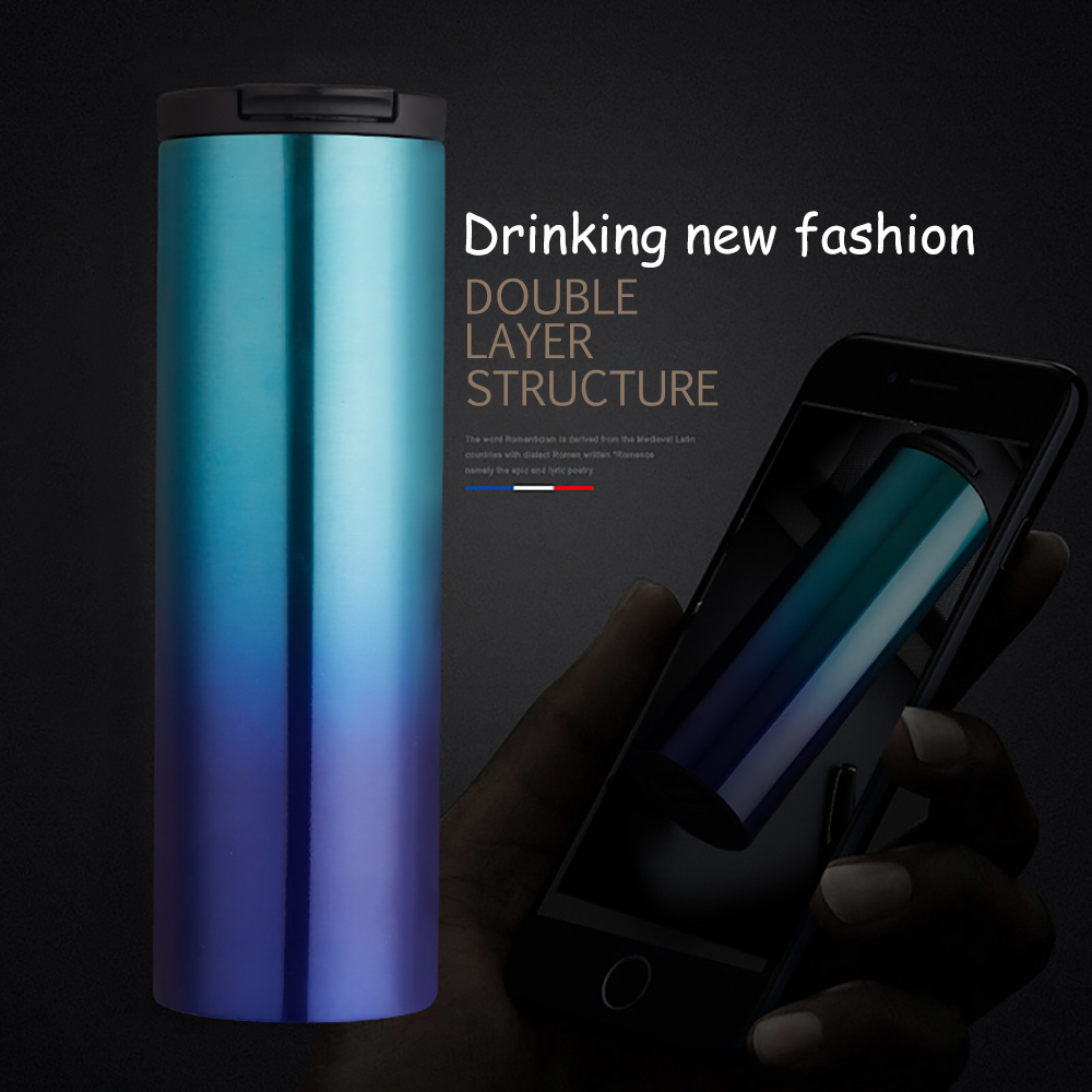 500ml304 stainless steel business clamshell insulated coffee cup 2019 customizable portable coffee bottle office cups
