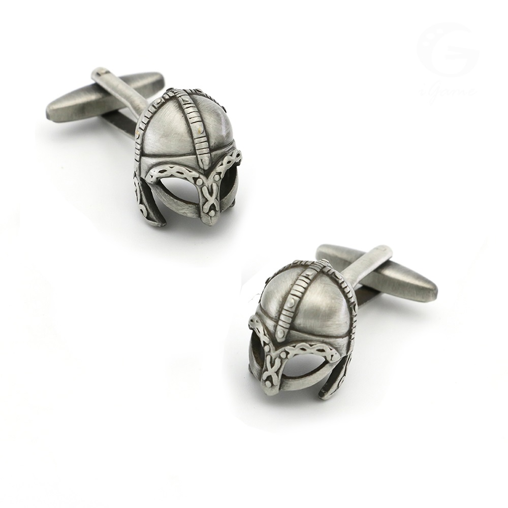 Film Design Sparta Warrior Helmet Cufflinks For Men Quality Brass Material Vintage Color Cuff Links Wholesale&retail