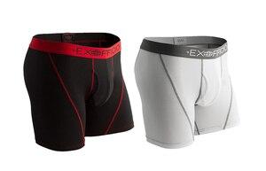 Image 4 - Calzoncillo bóxer de malla deportiva para hombre, ropa interior masculina de secado rápido, transpirable, ligera, talla S XXL, EE. UU., 2 unidades