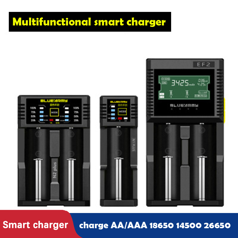 Multifunctional 18650 <font><b>battery</b></font> charger <font><b>1.2V</b></font> NiMH <font><b>NiCd</b></font> <font><b>AA</b></font> / AAA/AAAA 26650/14500 li-ion Rechargeable <font><b>battery</b></font> USB smart charger image