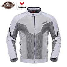 DUHAN Summer Motorcycle Jacket Men Moto Jacket Chaqueta Moto