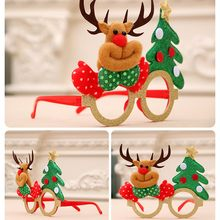 Fun Christmas Eyeglass Frame Santa Claus Children Xmas Glasses Birthday Party Supplies Toy Christmas Creative Gifts Decoration(China)
