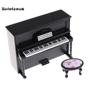Casa De Muñecas Miniaturas Escala 1//12th Taburete De Piano Lote R