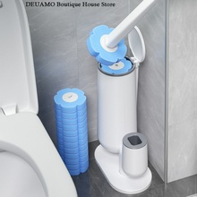 Toilet-Brush Cleaning-Tool-Set Bathroom-Accessories Disposable No with Creative Base