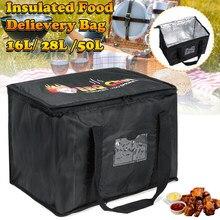 Isolation thermique pliable Restaurant Pizza porte-boisson à emporter sac de livraison de nourriture épicerie pique-nique réutilisable grand Portable