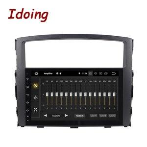Image 2 - Idoing Volante Multimedia con GPS para coche, Radio con navegador, Android 10, 9 pulgadas, 4G + 64G, PX6, 2DIN, unidad frontal de Radio, para MITSUBISHI PAJERO V97