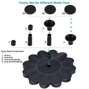 Power-Pump Water-Fountain-Panel Solar-Powered Fish Outdoor Small Bird Bath Mini