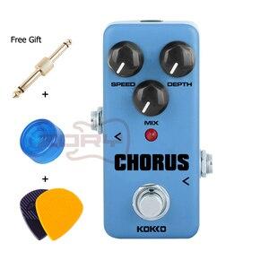 Портативный корпус KOKKO FCH2 Mini Chorus из алюминиевого сплава, портативная педаль для гитары с разъемом