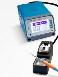 Image 5 - 75W lead free soldering station intelligent Digital temperature control T12 11 mobile phone pcb board welding BGA rework tools