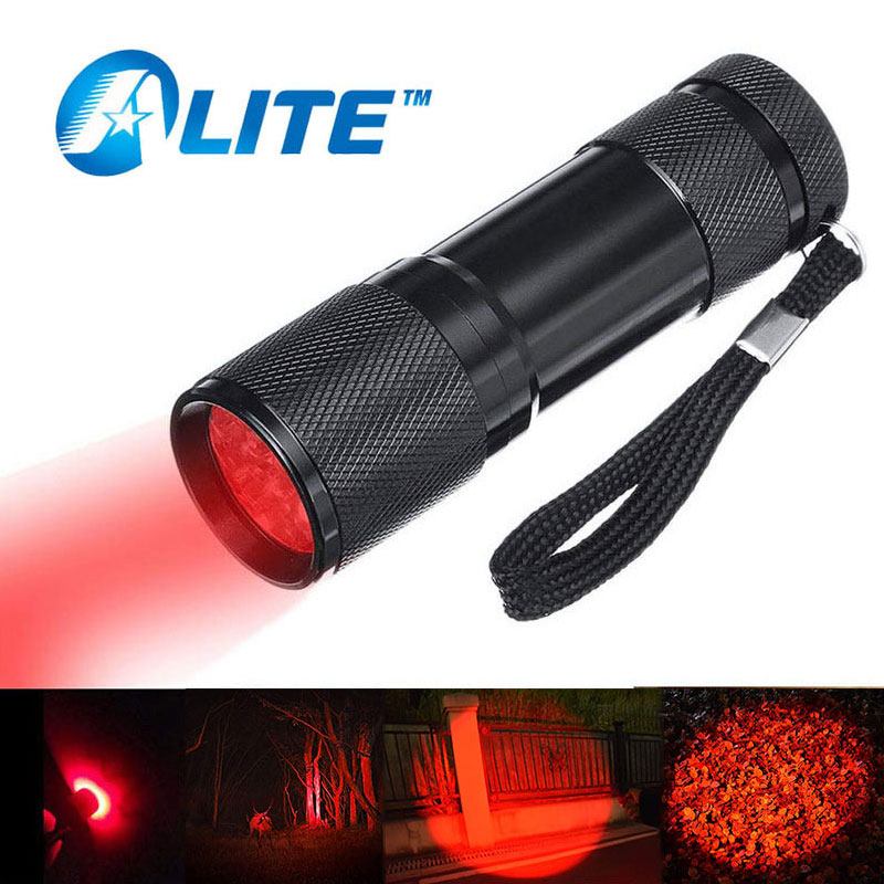 TMWT Mini Red LED Flashlight Lanterna Camera Infrared Light Detector for Reading Astronomy Star Maps and Preserving Night Vision