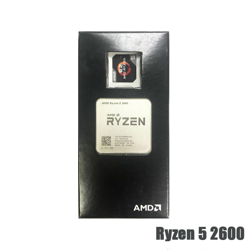 AMD Ryzen 5 2600 R5 2600 3.4GHz Six-Core 3MB Twelve-Thread Desktop CPU Processor 65W Socket AM4 NEW 2