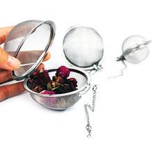 Емкость для приправ, пакетик, ситечко для чая, закованная крышка, сетка из нержавеющей стали, шаровой фильтр для кофе и чая, корзина для заварки, инструменты