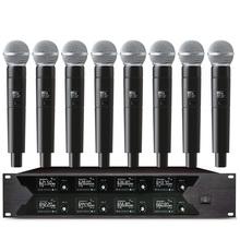 Profesjonalny mikrofon bezprzewodowy 8 kanał mikrofon ręczny mikrofon krawatowy dla kościoła aktywność na świeżym powietrzu mikrofon na scenie tanie tanio SIKEERMAN Dynamiczny Mikrofon Scen Mikrofon Bezprzewodowy Wielu Mikrofon Zestawy wireless SM58 Lavalier microphone Headset microphone