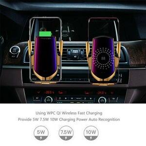 Image 5 - التلقائي لقط سيارة لاسلكية رف شاحن مستشعر الأشعة تحت الحمراء تشى التعريفي شحن حامل آيفون X XS ماكس سامسونج شاومي 9