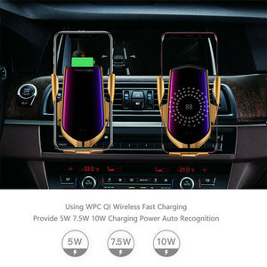 Image 5 - Automatic Clamping Wireless Car Charger Mount Infrared Sensor QI Induction Charging Holder For iPhone X XS Max Samsung xiaomi 9