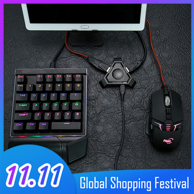 Vococal Wireless Bluetooth Gaming Keyboard Mouse Converter Adapter for Android IOS Apple Mobile Phone Tablet PUBG Survival Rules