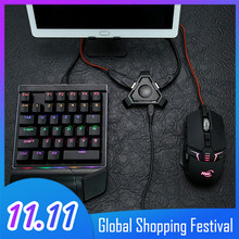 Vococal adaptador inalámbrico Bluetooth para teclado de videojuegos, conversor de ratón para Android IOS, Apple, teléfono móvil, tableta, PUBG, reglas de supervivencia