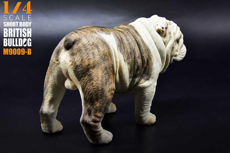 """1/4 Escala 1:4 Brinquedo Modelo de Corpo Curto Exagerada M-9009 British Bulldog Quatro Cores Cão Filhote de Cachorro do Animal de Estimação Animal F 12"""" brinquedos"""