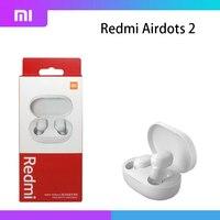 Xiaomi-auriculares inalámbricos Redmi AirDots 2, cascos con Bluetooth 5,0, auténticos, Bluetooth 2021, color negro, 5,0