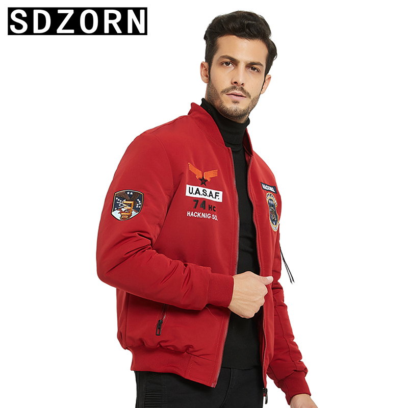 Mens Jacket Warm Padded Parka for Men Stand Collar Fashion Jackets 2019 New Fall Winter Outwear