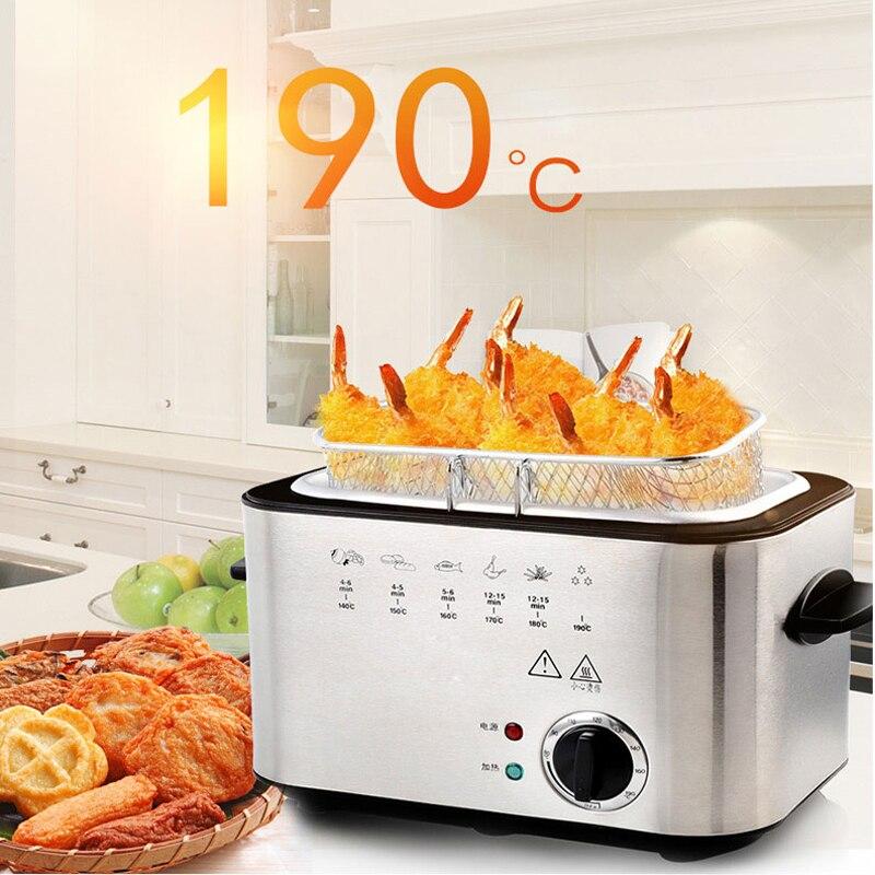 220V 1200W Electric Fryer Household Smokeless Multifunctional Fryer Chicken Leg Fries  Fryer Air  Minifryer  Kitchen Fryer