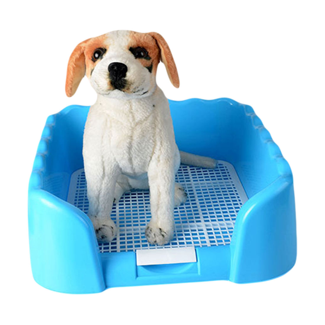 Portable Puppy Training Tray with Fence for Pet Dogs and Cats Potty and Pee Training Indoor 14