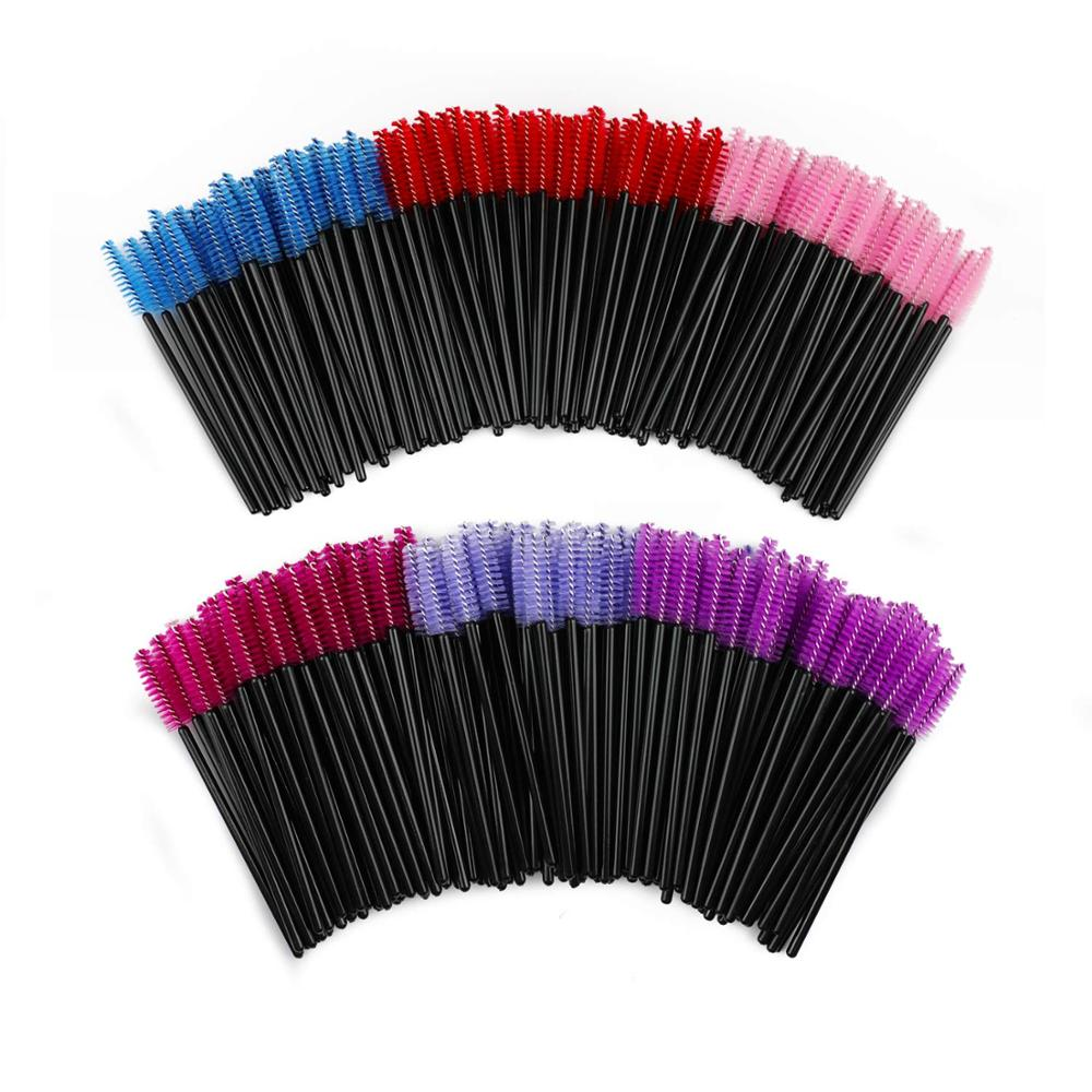 100Pcs Eyelash Brushes Makeup Brushes Disposable Mascara Wands Applicator Spoolers Eyelash Extension Brushes For Makeup