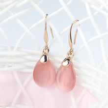 цена на 1 Pairs new  Ear earrings Waterdrop Sale Stone Earring Stud Opal Jewelry Shape earrings for women