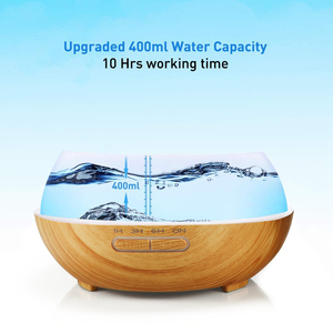Image 4 - KBAYBO Ultrasonic Air Humidifier 400ml Aroma Essential Oil Diffuser with Wood Grain 7 Color Changing LED Lights for Office Home