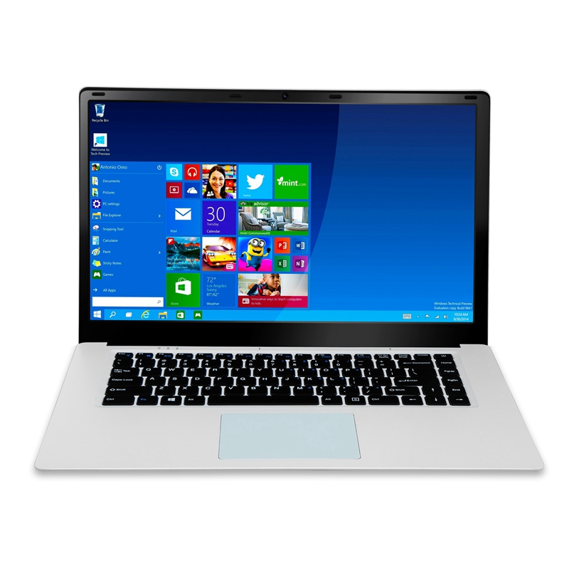 HOT-15.6 Inch 1080P Laptop 2GB RAM 32GB EMMC Intel Atom Z8350 Quad Core CPU Windows 10 System Notebook Computer