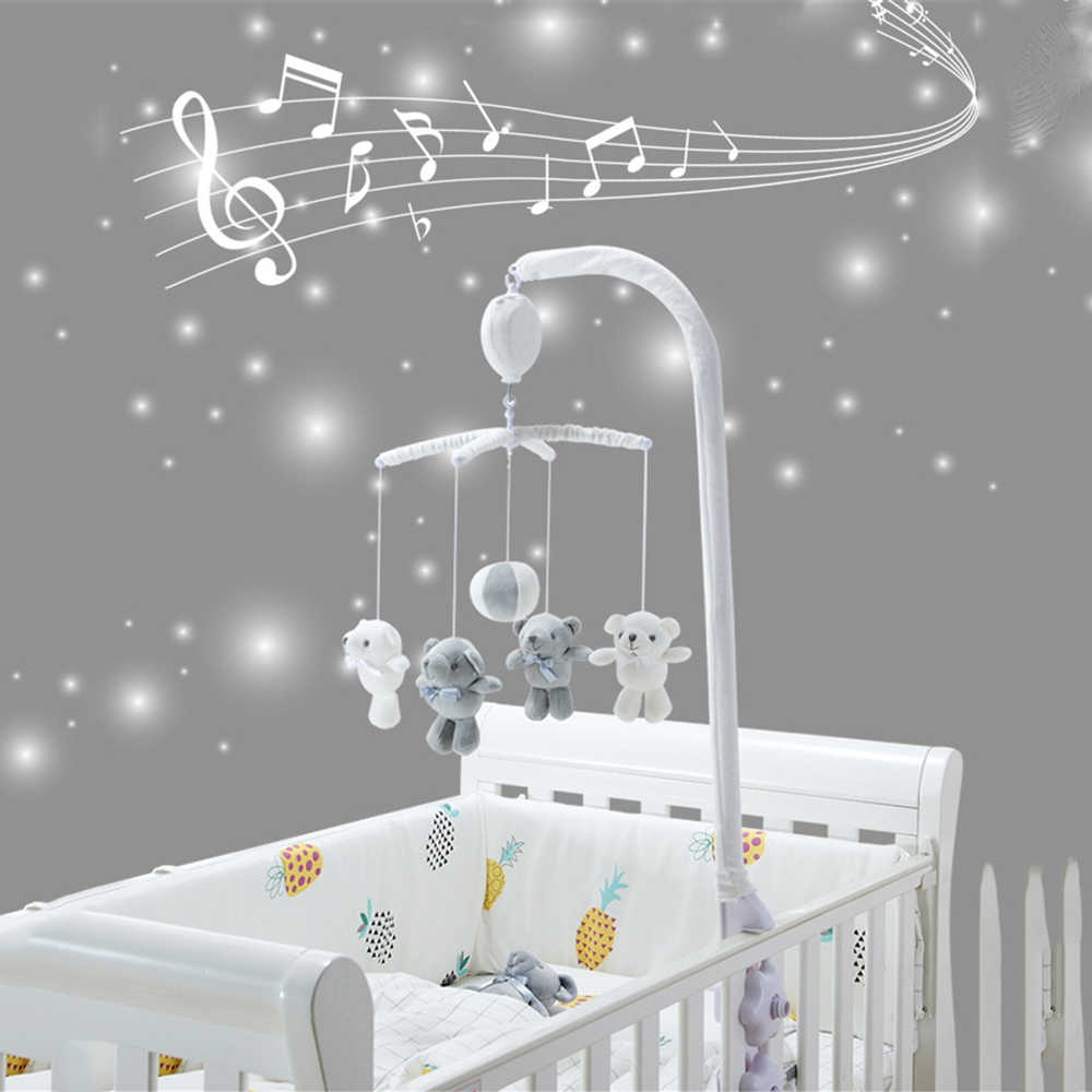 Baby Rattles Mobile To Bed Toys 0 12 Months Baby Crib Cradle Bear Rattle Newborns Educational Game Funny Music Ringtone Toy|Baby Rattles & Mobiles| - AliExpress