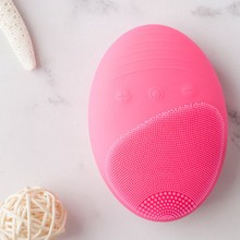 Facial Cleansing Brush,Electric Cleansing Brush Skin Care Tool Waterproof Silicone Face Scrub Brush Pore Cleanser(China)