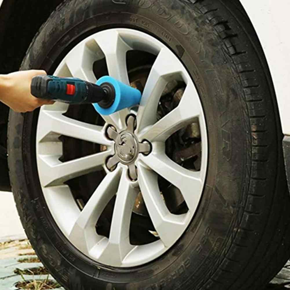 Автомобильный полировщик шины колеса инструмент для ступицы колеса Полировка пены губка полировальная Подушка полировальная машина конусообразная форма колеса Ступицы диск