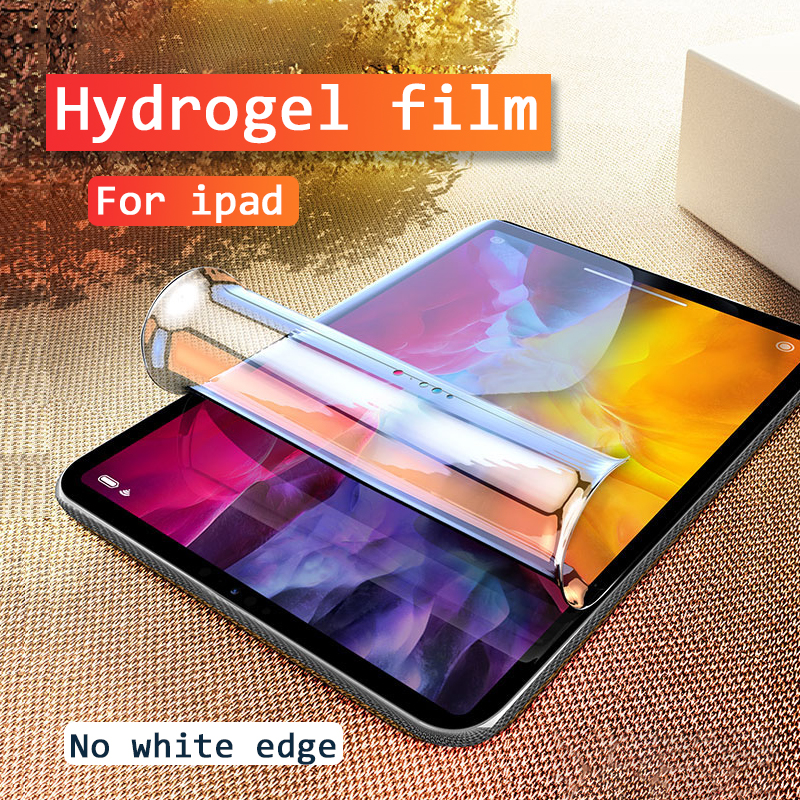 Filme de hidrogel para ipad 9.7 ar 1 2 3 2017 2018 protetor de tela para ipad 7 10.2 mini 4 5 pro 11 2020 10.5 película protetora macia