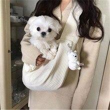 Puppy-Bag Dog-Carriers Pet-Shoulder-Bag Outdoor Breathable Single Comfort White