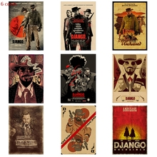 Quentin Movie Poster Django Unchained Kraft Paper Retro Bar Bedroom Wall Decoration Painting