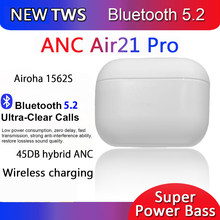Anc air21 pro 45db airoha 1562s fones de ouvido sem fio bluetooth pk i900000 tws i9999 pro max ar 3 botões