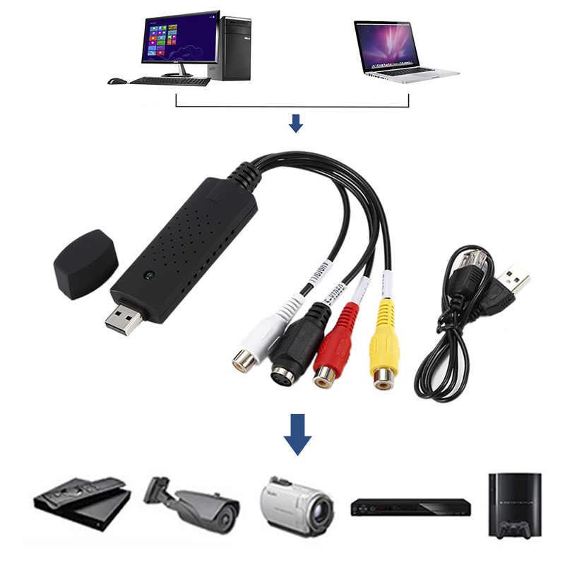 Panas Portabel Mudah Untuk Cap USB2.0 Audio Video Capture Card Adaptor VHS Untuk DVD Video Capture Converter Untuk Win7/8/XP/Vista Adaptor