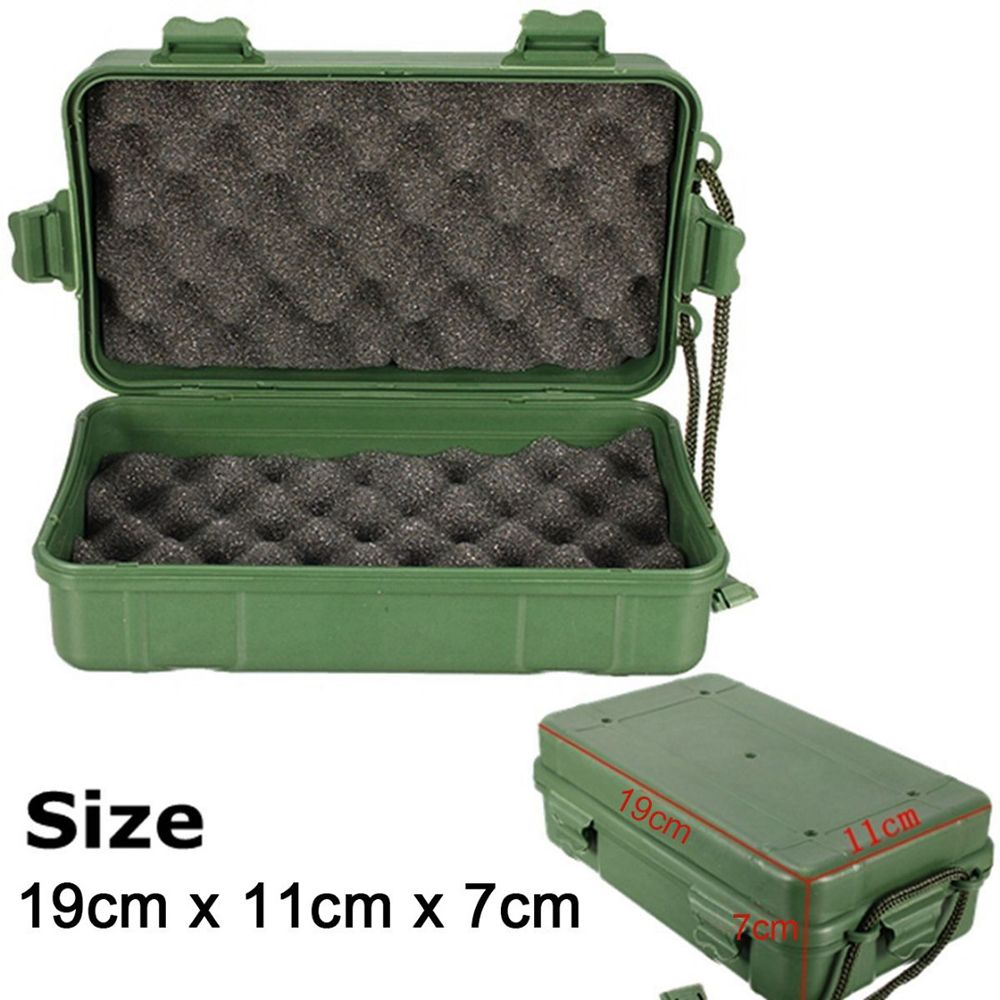 1PC Outdoor Shockproof Waterproof Boxes Survival Airtight Case Holder For Storage Matches Small Tools Travel Sealed Containers