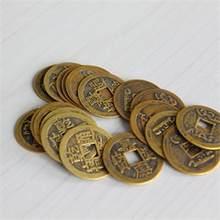 10 pçs/lote 23mm Novo Chinês Feng Shui Sorte Ching/conjunto Educacional Dez imperadores Moedas Antigas Antigo Dinheiro Fortuna