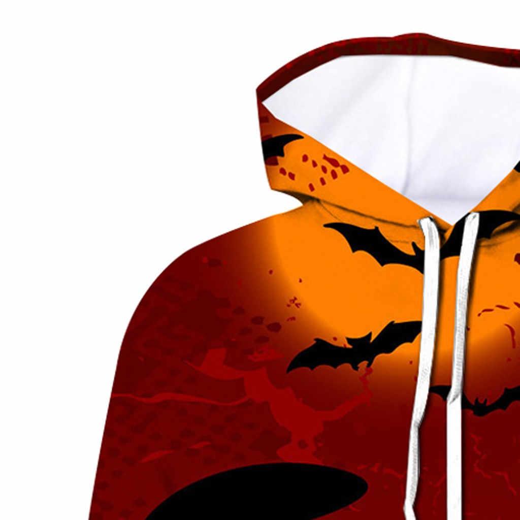 Inverno masculino gato bat padrão 3d impressão camisola com capuz halloween pop vinho vermelho grande tamanho jaqueta com gola chapéu tamanho completo # bl1
