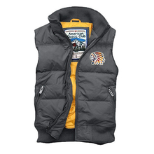 MEN'S down Jacket Vest Spring Winter Thick Hooded plus Size