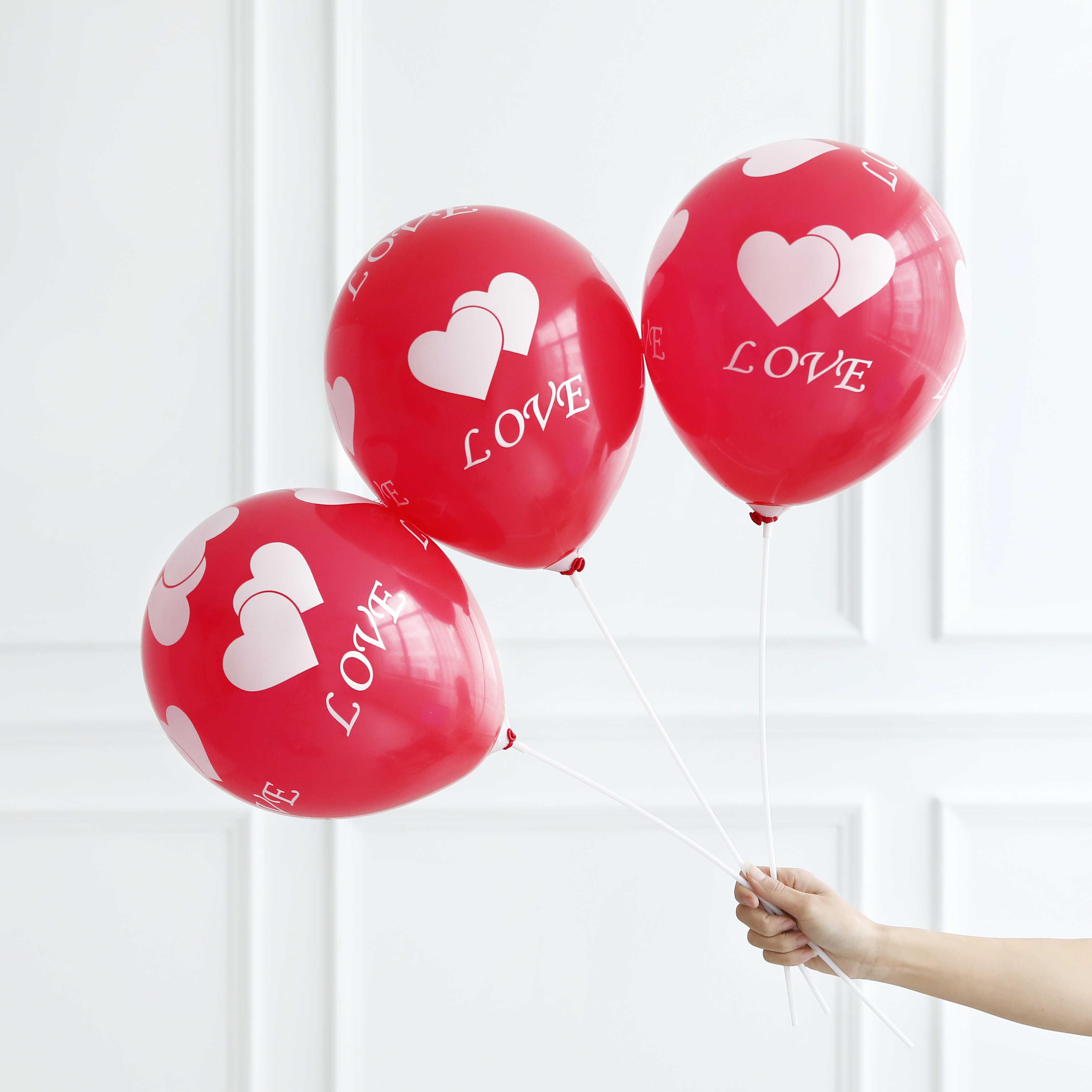 10 шт. 12 дюймов гелиевые воздушные шары в форме сердца я люблю тебя латексные