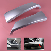 beler Car Silver ABS Front Lower Bumper Side Grill Lip Corner Guard Trim Cover fit for Mitsubishi Outlander 2016 2017 2018
