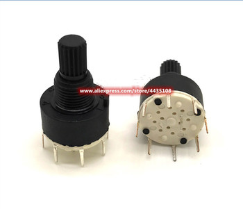 5PCS SR16 Plastic 16MM Rotary Band switch 2 Pole 3 4 position 1 Pole 5 6 8 Position Handle Length 15MM Axis band switch image