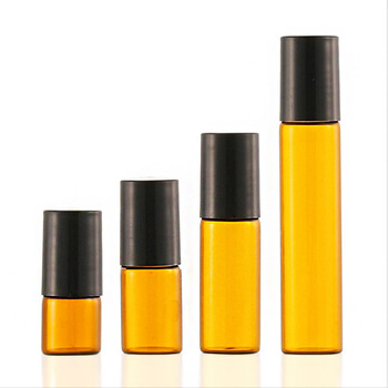 5/10ml Glass Roll-on Bottles with Stainless Steel Roller Balls Essential Oil Bottles Empty Cosmetic Containers Refillable Bottle image