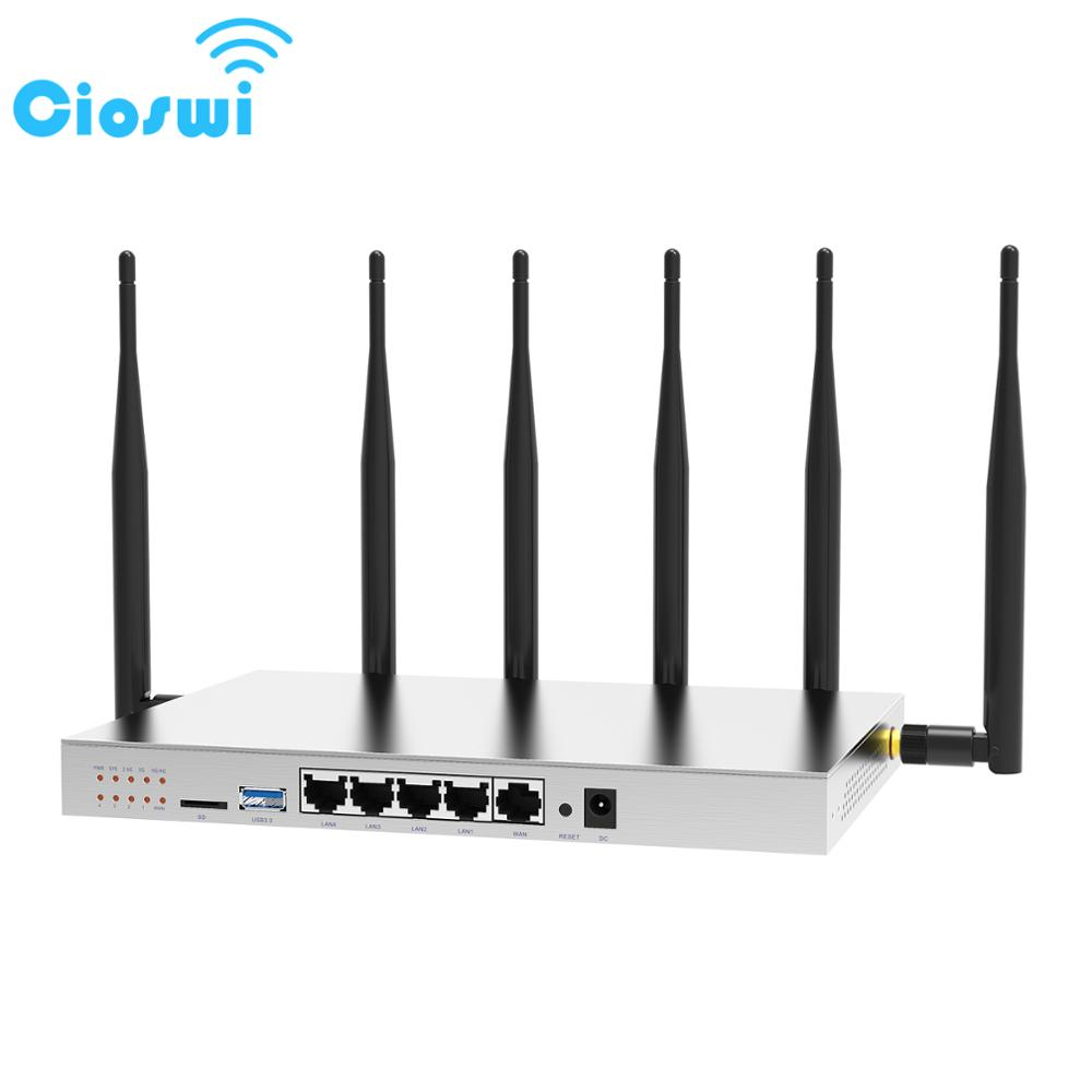 Cioswi 3G 4G Router With SIM Card Slot 3G 4G LTE Modem Strong Wifi Stable Performance High Gain Omni Directional Antenna