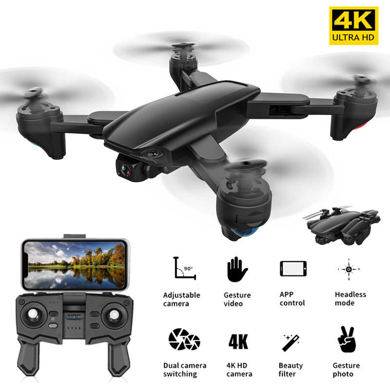 FEMA Profesional GPS Drone 4K dengan Dual Kamera Hd 5G WiFi FPV Optical Flow Foldable RC Quadcopter Mini drone VS SG907